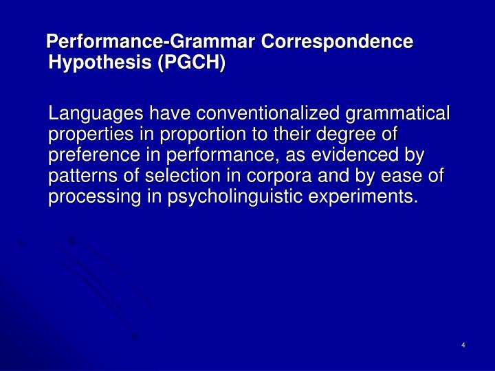 Performance-Grammar