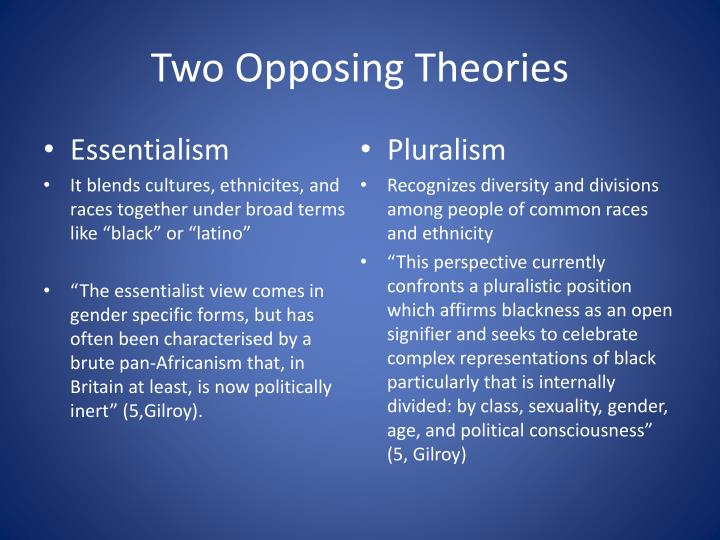 Two Opposing Theories