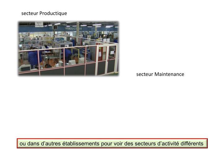 secteur Productique