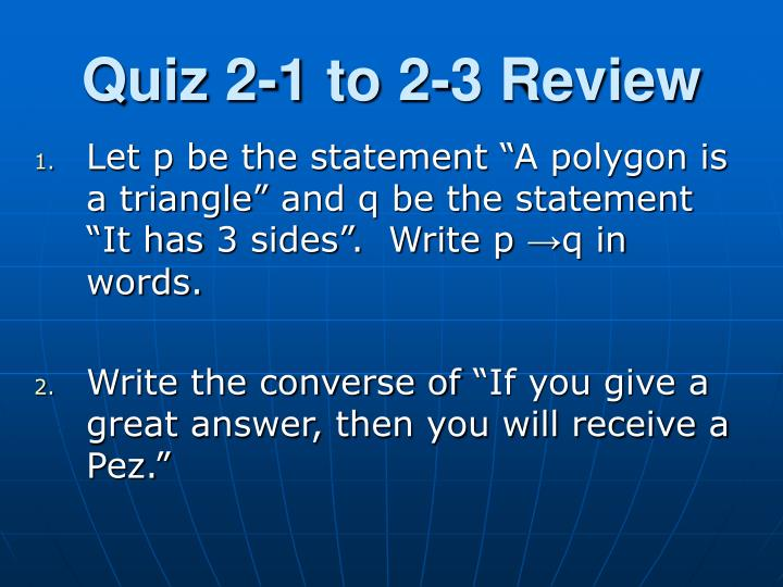 Quiz 2 1 to 2 3 review