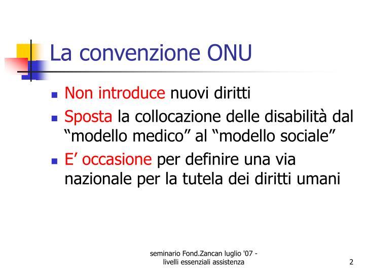 La convenzione ONU