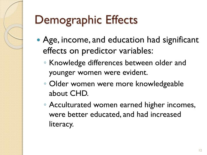 Demographic Effects