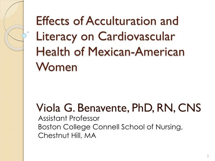 Effects of acculturation and literacy on cardiovascular health of mexican american women