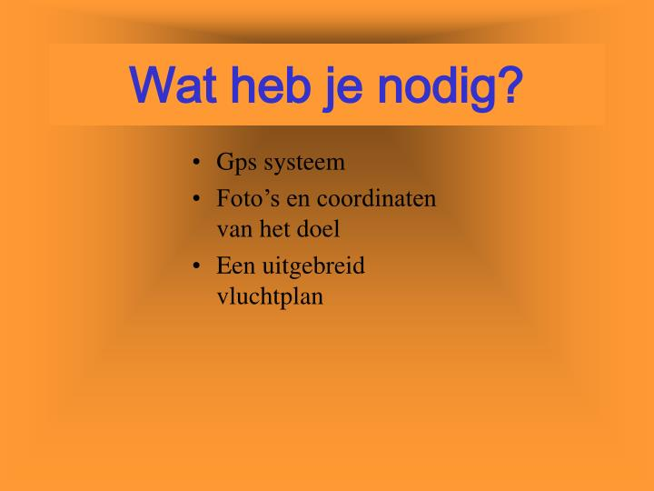 Gps systeem