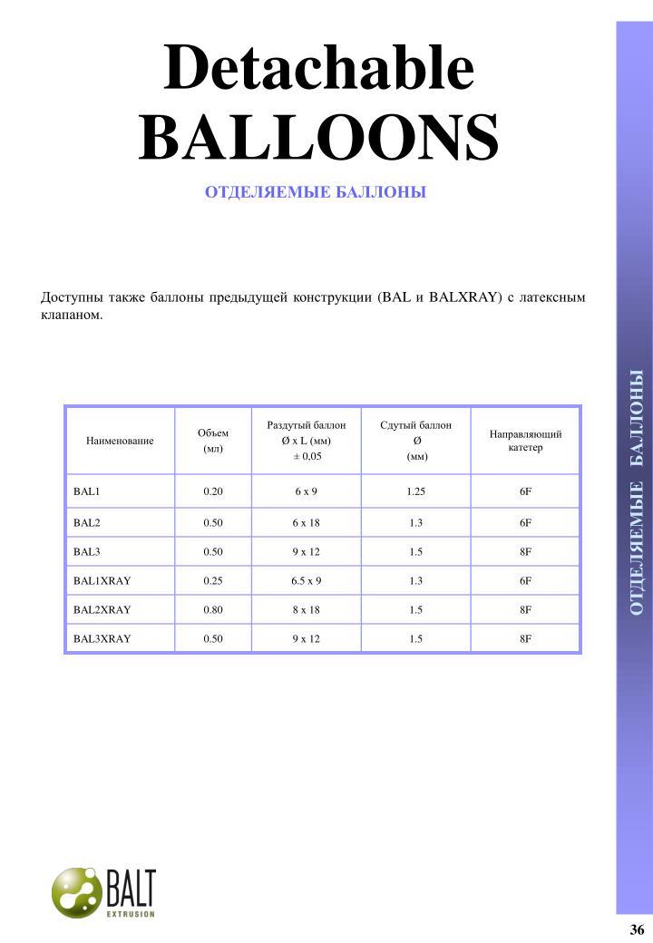 Detachable BALLOONS