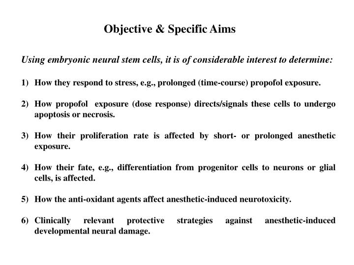 Objective & Specific Aims