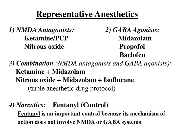 Representative Anesthetics