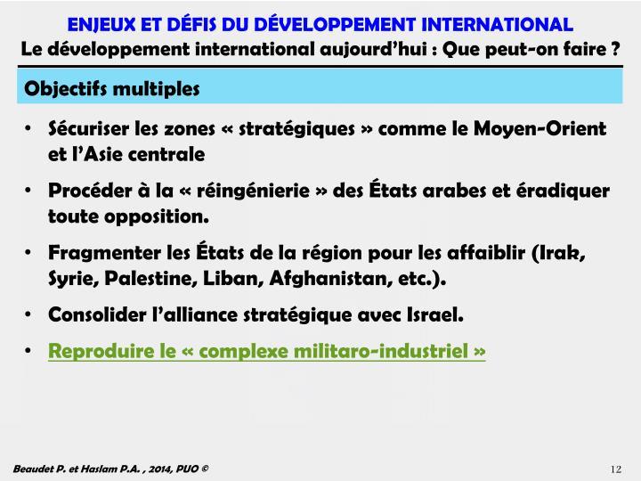Objectifs multiples