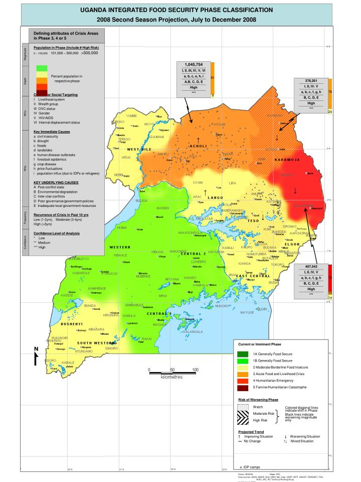 UGANDA INTEGRATED FOOD SECURITY PHASE CLASSIFICATION