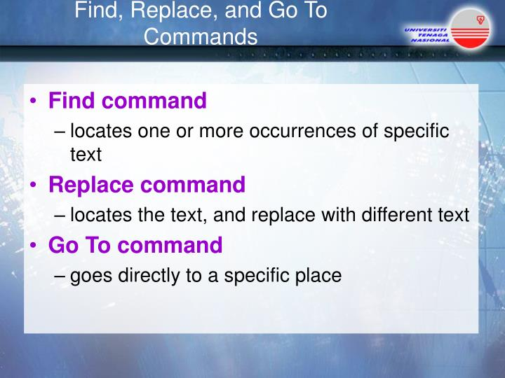 Find command