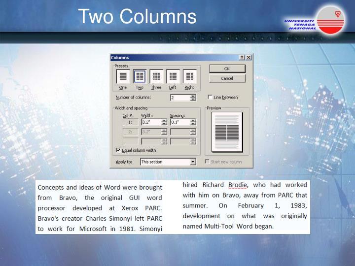 Two Columns