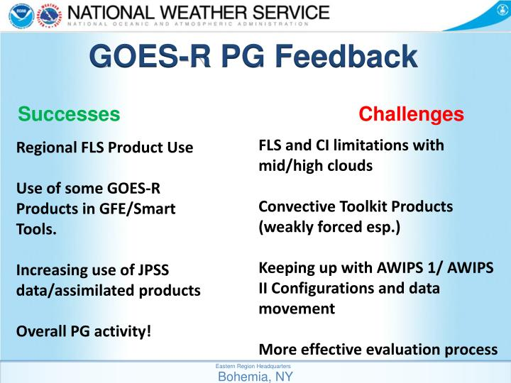 GOES-R PG Feedback
