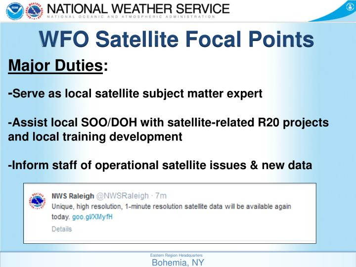 WFO Satellite Focal Points