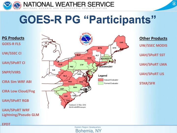 "GOES-R PG ""Participants"""