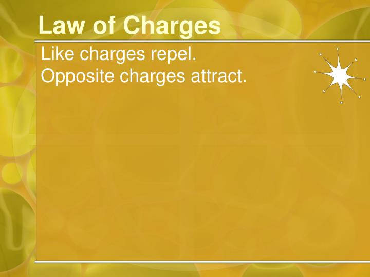 Law of Charges
