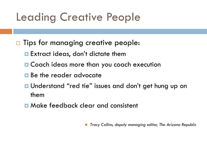 Leading Creative People