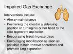 impaired gas exchange