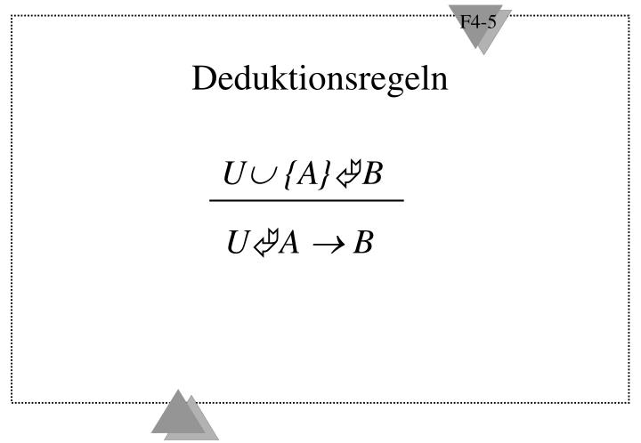 Deduktionsregeln