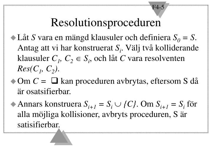 Resolutionsproceduren