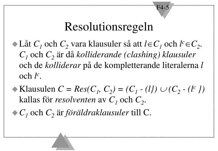 Resolutionsregeln