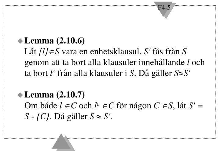 Lemma (2.10.6)