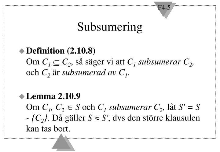 Subsumering