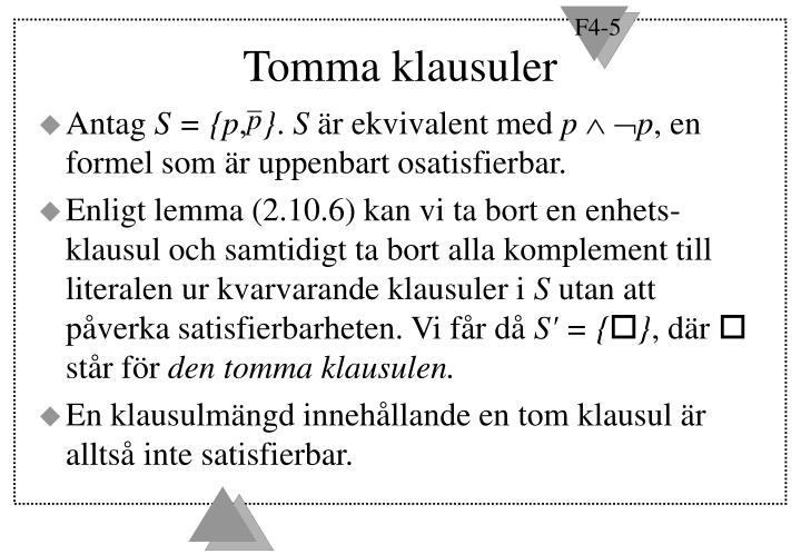 Tomma klausuler
