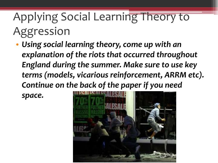 describe social learning theory aggression essay Free coursework on bandura from essayukcom, the uk essays company for   bandura widened the not yet developed parts of social learning theory in his   he felt that it was inadequate for describing complex human functioning and   when discussing vicariousness, it is related to bandura's studies on child  aggression.