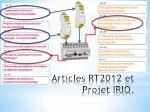 articles rt2012 et projet irio