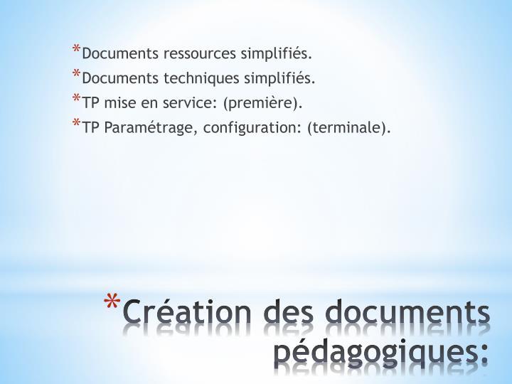 Documents ressources simplifiés.