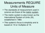 measurements require units of measure