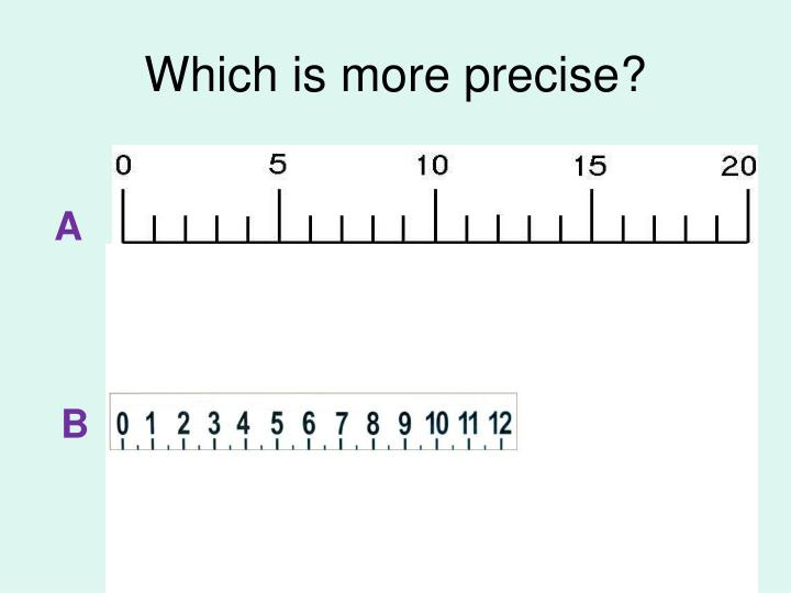 Which is more precise?