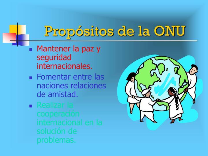 Propósitos de la ONU