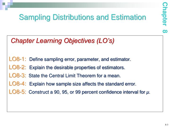 Sampling distributions and estimation1