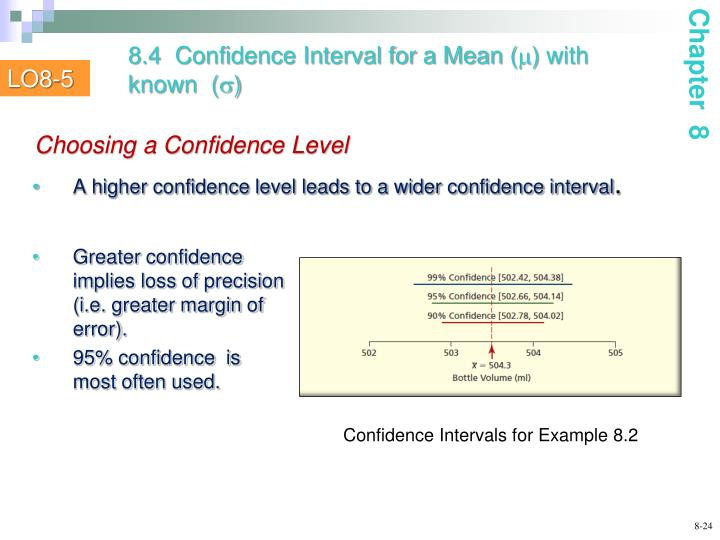 8.4  Confidence Interval for a Mean (