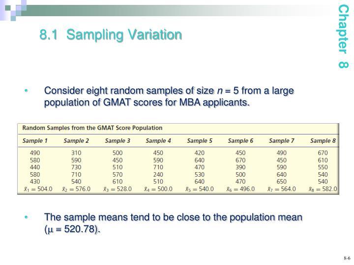 8.1  Sampling Variation