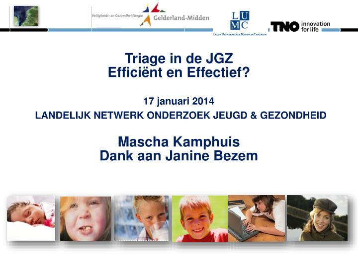 Triage in de JGZ