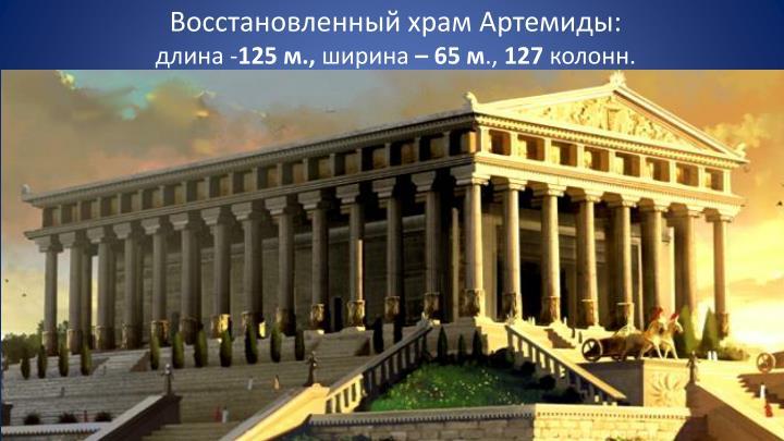 Восстановленный храм Артемиды: