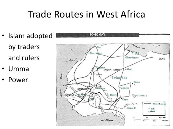 Trade Routes in West Africa