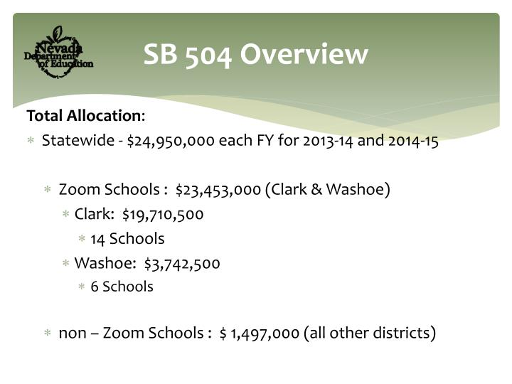 SB 504 Overview