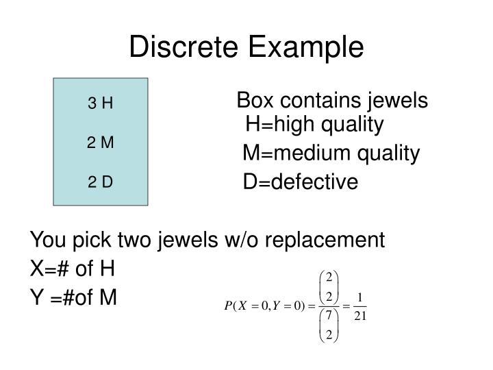 Discrete Example