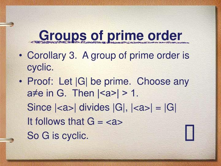 Groups of prime order