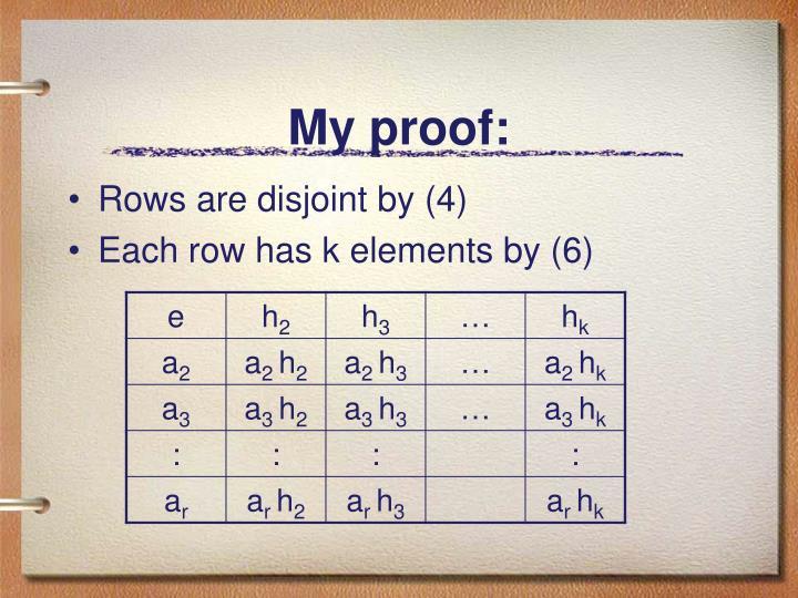My proof:
