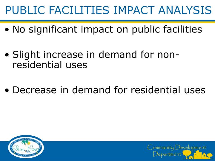 PUBLIC FACILITIES IMPACT ANALYSIS