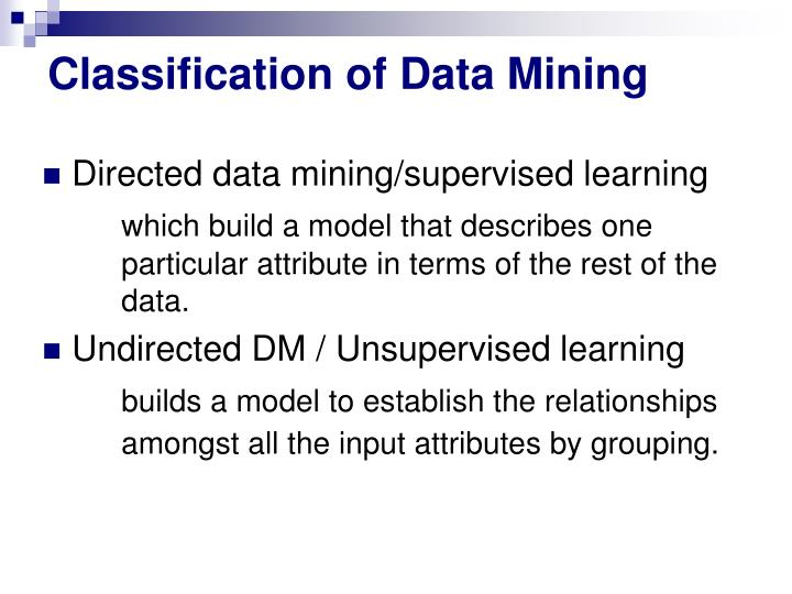 Classification of Data Mining