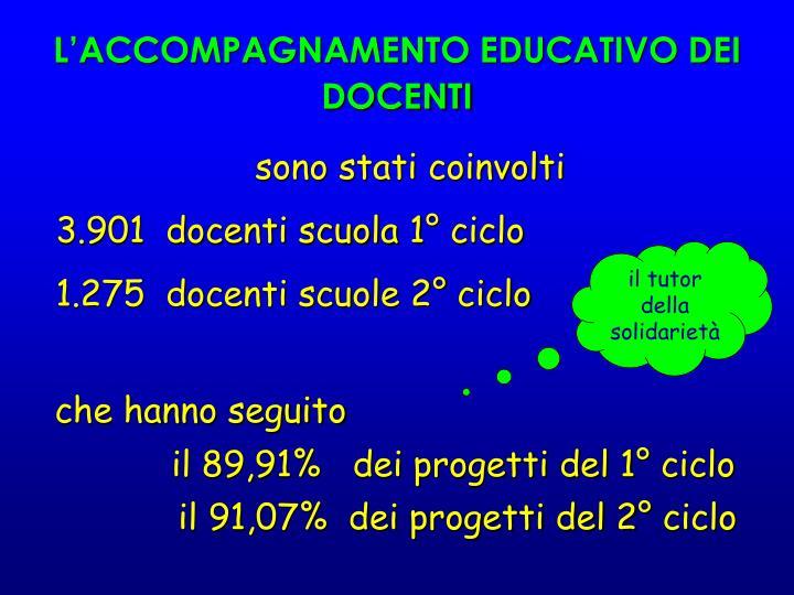 L'ACCOMPAGNAMENTO EDUCATIVO DEI DOCENTI