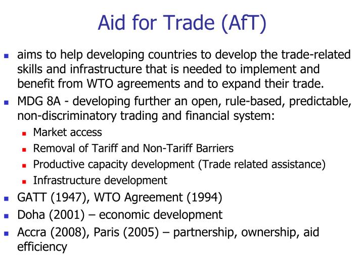 Aid for Trade (AfT)