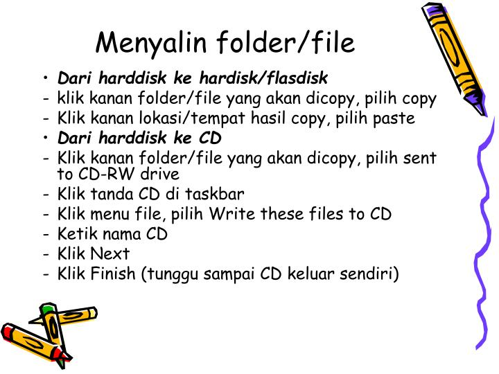 Menyalin folder/file