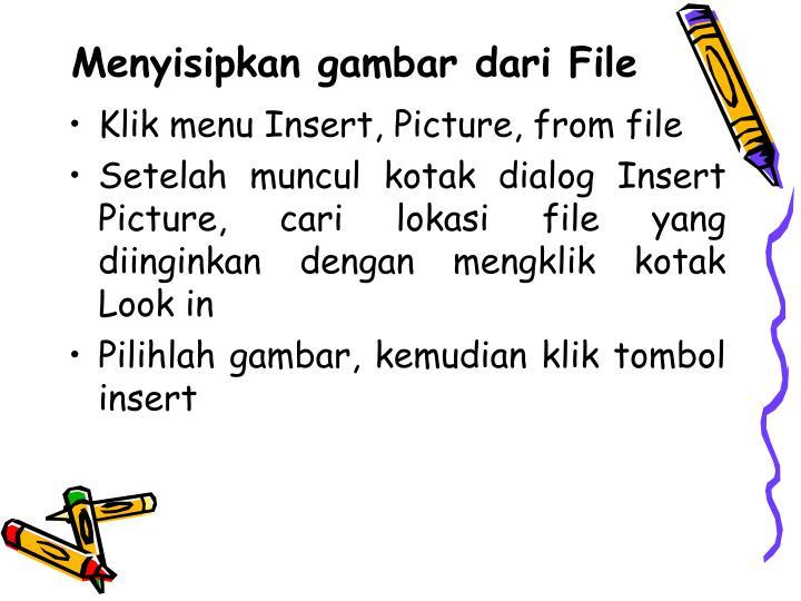 Menyisipkan gambar dari File