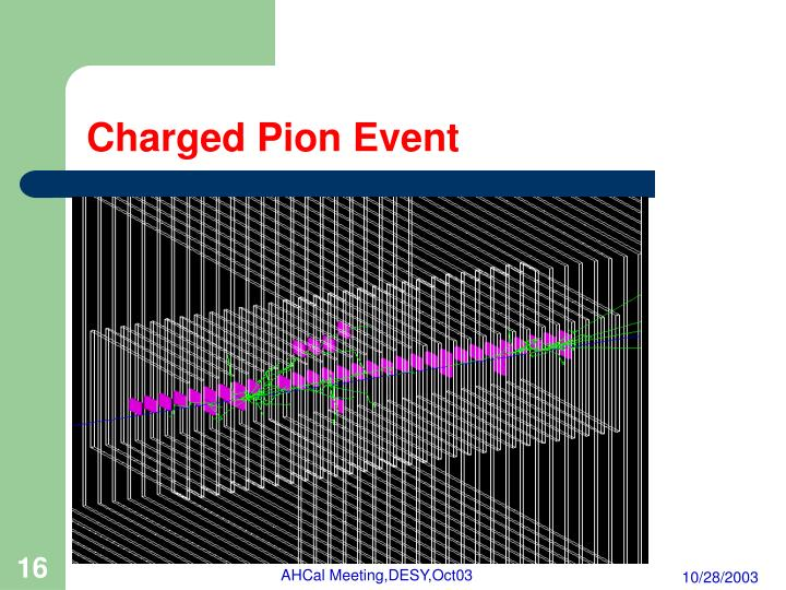 Charged Pion Event